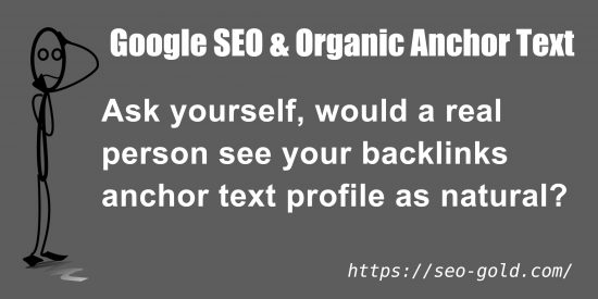 Google SEO and Organic Anchor Text