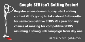 Google SEO is not Getting Easier!