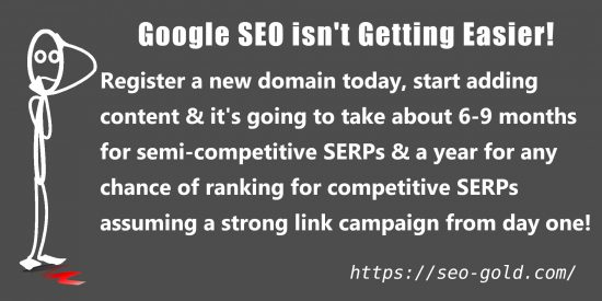 Google SEO is not Getting Easier!