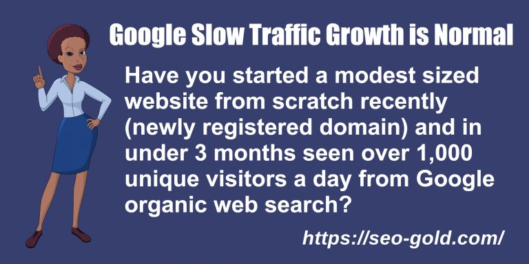 Google Slow Traffic Growth is Normal