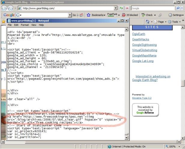 Black Hat SEO Hidden Image Link Source Code