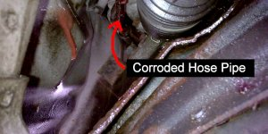 High Pressure Power Steering Hose Pipe Leak