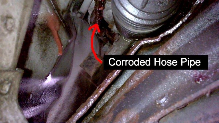 High Pressure Power Steering Hose Pipe Leak
