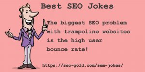 High User Bounce Rate SEO Joke