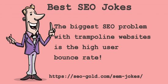 High User Bounce Rate SEO Joke