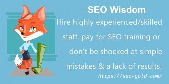 Hire Experienced SEO Staff or Expect Mistakes