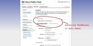 How to Auto Tweet FeedBurner RSS Feeds
