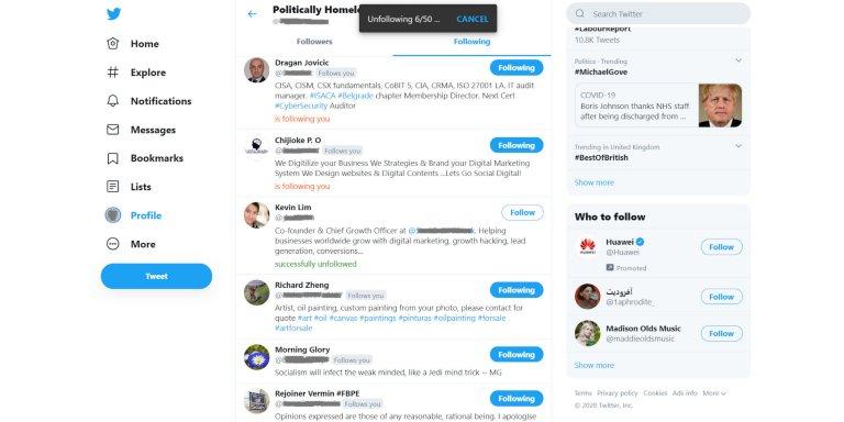 How To Do Mass Unfollow On Twitter