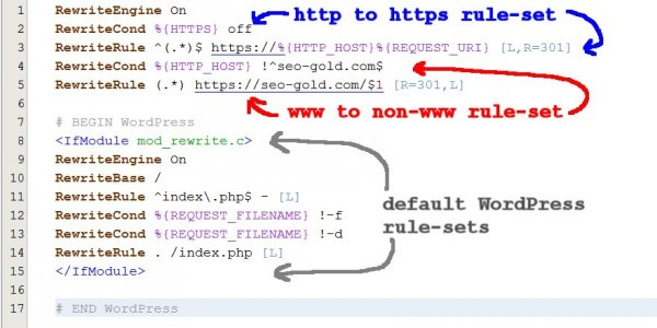 Http to Https Htaccess 301 Redirect Rules