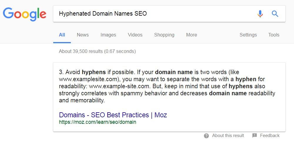 Hyphenated Domain Names Seo Tutorial
