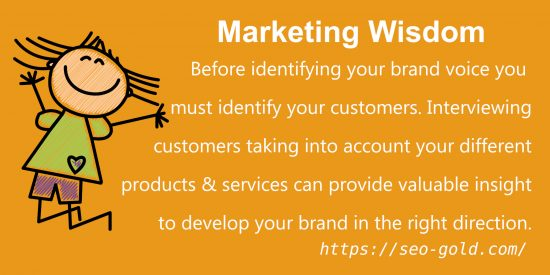 Identify Your Brand Voice, Identify Your Customers
