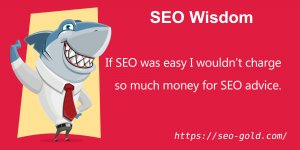 If SEO was Easy I wouldn't Charge so Much Money for SEO Advice