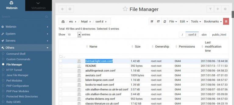 Individual Virtualhost Directives Configuration Files