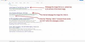 Internal Image Link ALT Text SEO Test Result