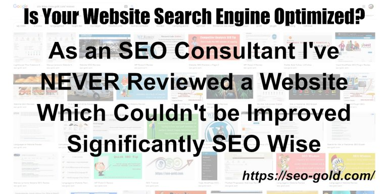 Is Your Website Search Engine Optimized?