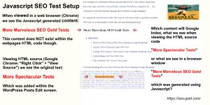 JavaScript Google SEO Test Setup