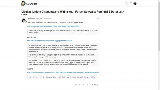 Jeff Atwood Co-Founder of Discourse Forum Response to Hidden Black hat SEO Links