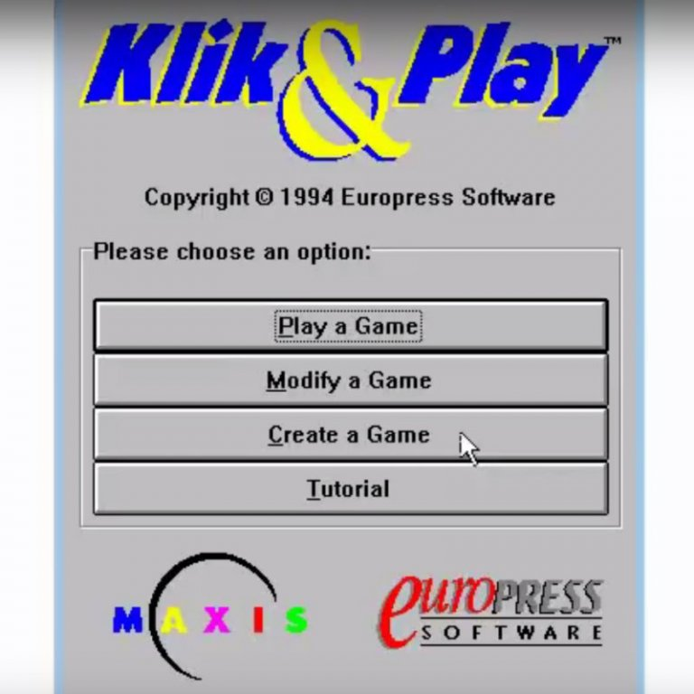 Klik and Play Game Creator