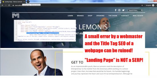 Landing Page Title Tag SEO Mistake