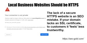 Local Business Websites Should be HTTPS