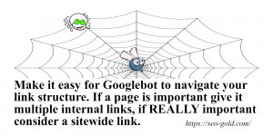 Make it Easy for Googlebot to Navigate your Link Structure
