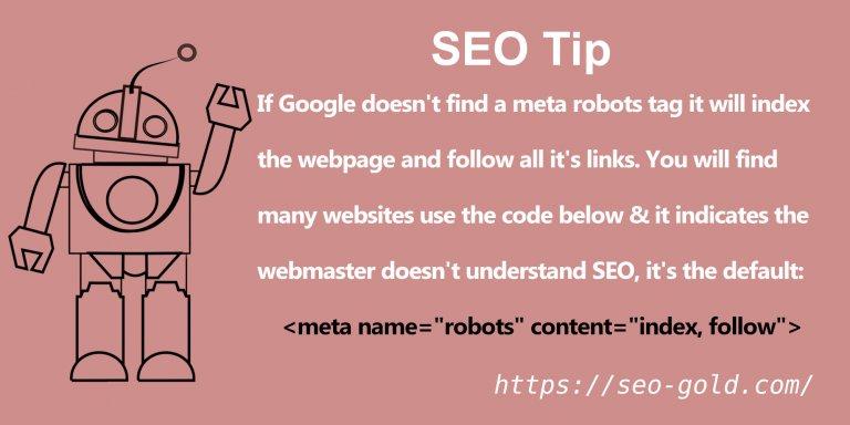 meta name=robots content=index, follow