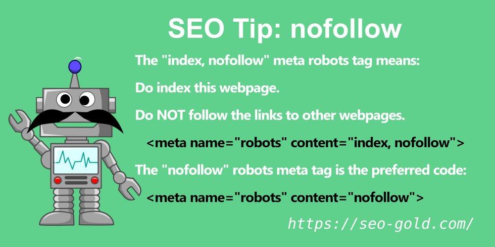 meta name=robots content=index, nofollow