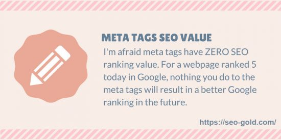 Meta Tags SEO Value Tip