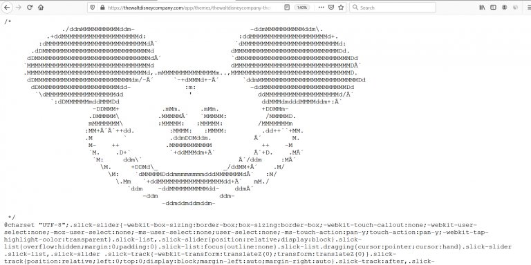 Mickey Mouse ASCII Art