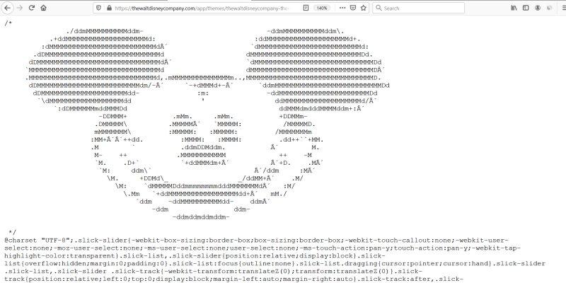 Mickey Mouse ASCII Art