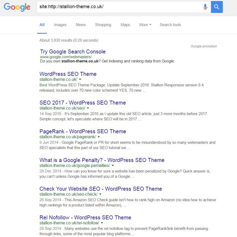 Google Site Search for a Site with Minimal WordPress Archives