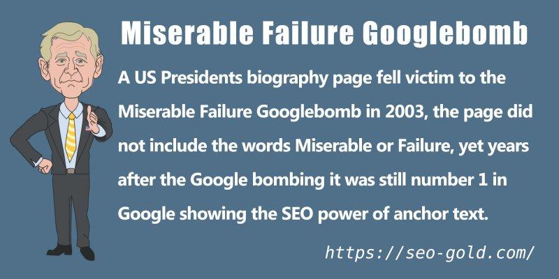 Miserable Failure GoogleBomb and Anchor Text