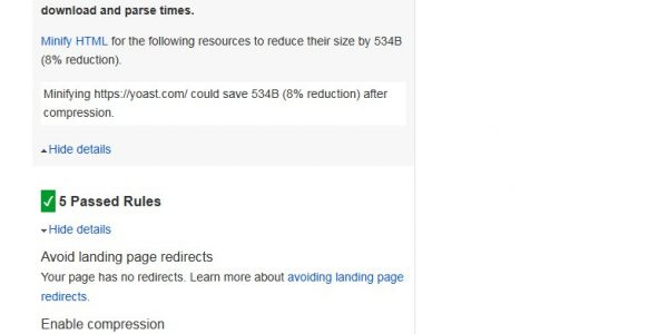 Full Mobile PageSpeed Insights Yoast SEO Homepage Result