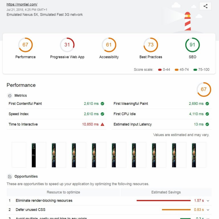 Montiel Activewear Website Report