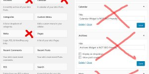 Not SEO Friendly WordPress Widgets
