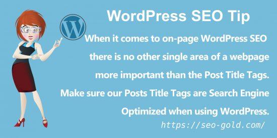 On-Page WordPress SEO Title Tag Tip