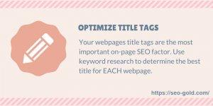 Optimize Title Tags SEO Tip