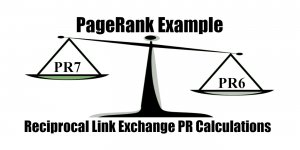 PageRank Example Reciprocal Link Exchange PR Calculations