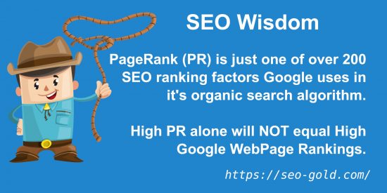 PageRank is One of Over 200 SEO Ranking Factors Google Uses