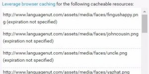 Google PageSpeed Insights Leverage Browser Caching