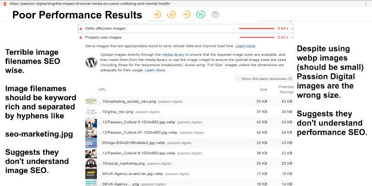 Passion Digital Ltd Poor Performance SEO Results