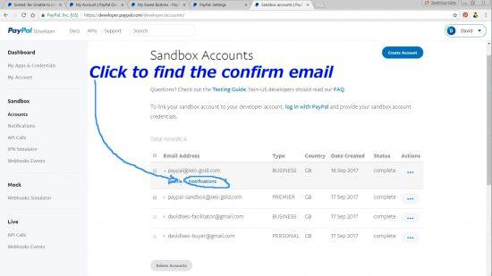 PayPal Sandbox Accounts