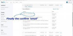 PayPal Sandbox Confirm Email Address Notification