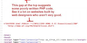 PHP Whitespace