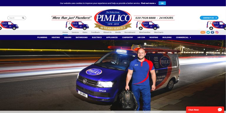 Pimlico Plumbers Website