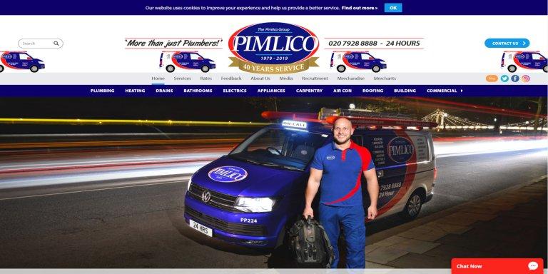 Pimlico Plumbers Website