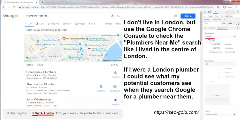 Plumbers Near Me London