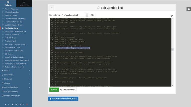 Godaddy Server Postfix Relayhost Setting