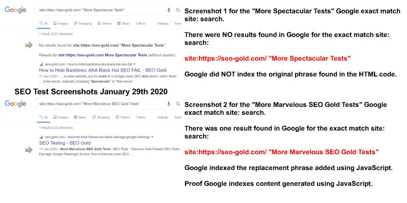 Proof Google Indexes Content Generated Using JavaScript