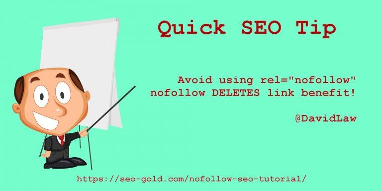 Quick SEO Tip Nofollow Deletes Link Benefit